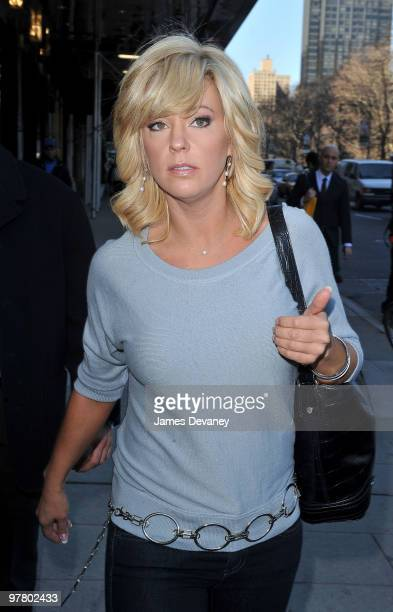 Kate Gosselin leaves after having lunch at Sarabeth's Central Park South on March 17 2010 in New York City
