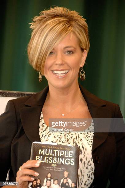 Kate Gosselin signs copies of her new book Eight Little Faces and her New York Times Bestselling book Multiple Blessings at the Barnes Noble in...