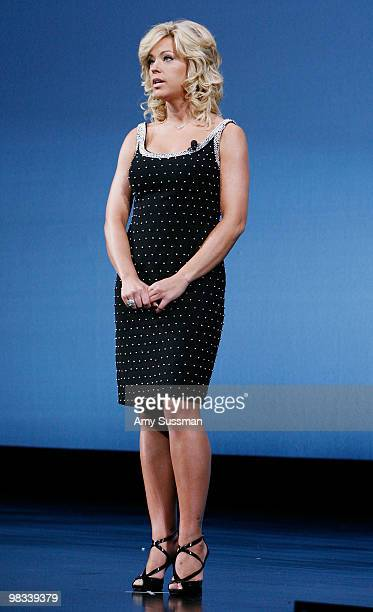 Kate Gosselin speaks at the Discovery Communications 2010 New York Upfront at Jazz at Lincoln Center on April 8 2010 in New York City