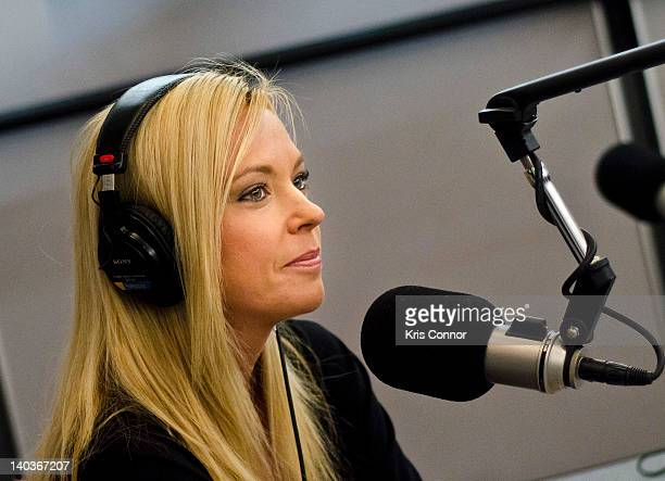 Kate Gosselin speaks on SiriusXM's Broadminded radio show at SiriusXM Studio on March 2 2012 in Washington DC