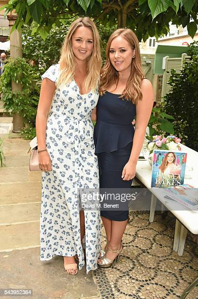 Kate Gowing and Tanya Burr attend an intimate dinner hosted by Tanya Burr to launch her first cookbook 'Tanya Bakes' at Number Sixteen on June 30...