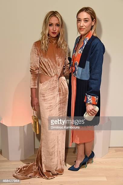 Kate Greer and Mia Moretti attend Audi's Celebration of partnership with the Whitney Museum on April 2 2015 in New York City