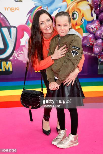 Kate Hall and her daughter Ayana Haley Hall Soost attend the 'My little Pony' Premiere at Zoo Palast on October 3, 2017 in Berlin, Germany.