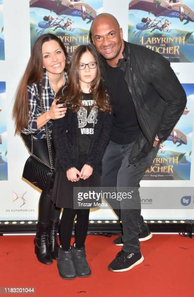 "Kate Hall, Ayana, Detlef D! Soost at the Young Show ""Im Labyrinth der Buecher"" at Friedrichstadtpalast on November 17, 2019 in Berlin, Germany."