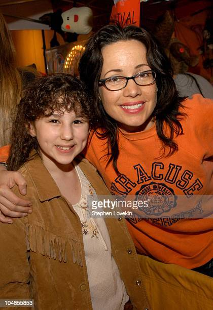 Kate Hallie Eisenberg and Janeane Garofalo during Children's Day Artrageous Hosted by The Edwin Gould Foundation at The Metropolitan Pavillion in New...