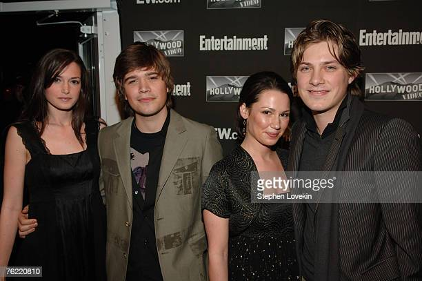 Kate Hanson Zac Hanson Natalie Hanson and Taylor Hanson at Entertainment Weekly 13th Annual Academy Awards Viewing Party at Elaine's