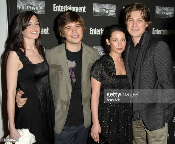 Kate Hanson Zach Hanson Natalie Hanson and Taylor Hanson arrive to Entertainment Weekly's New York Oscar Viewing Party held at Elaine's New York City...