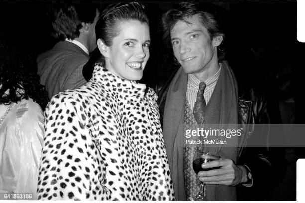 Kate Harrington and Robert Mapplethorpe at the dinner party for Paul King at the Water Club Friday April 11 1986