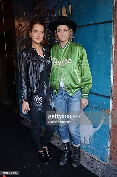 Kate Harrison and Emily Armstrong attend Glamour and AG Denim Music Dinner in support of MusiCares hosted by Jessica Kantor Johnathan Crocker Erica...