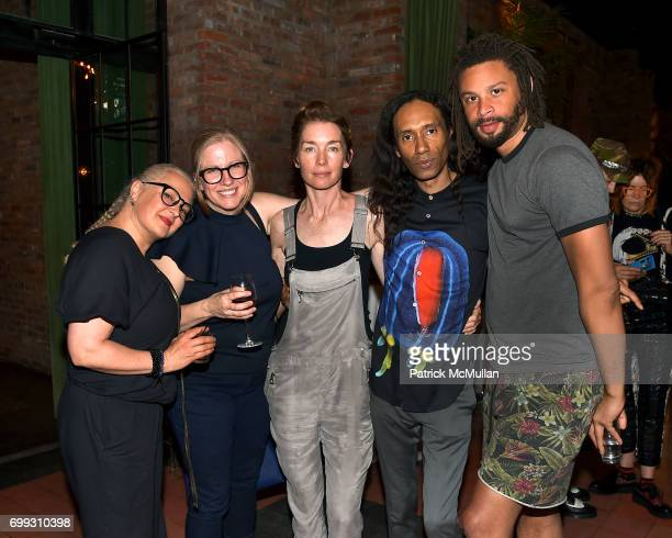 Kate Harwood Paula Adams Julianne Nicholson Paul Alexander and Xavier Smith attend Walt Cessna ReMemory and Tribute at Bowery Hotel on June 12 2017...