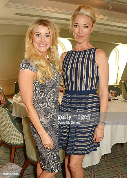 Kate Hersov and Tamara Beckwith attend a lunch hosted by Tamara Beckwith and Alessandra Vicedomini to celebrate luxury fashion brand Vicedomini at...