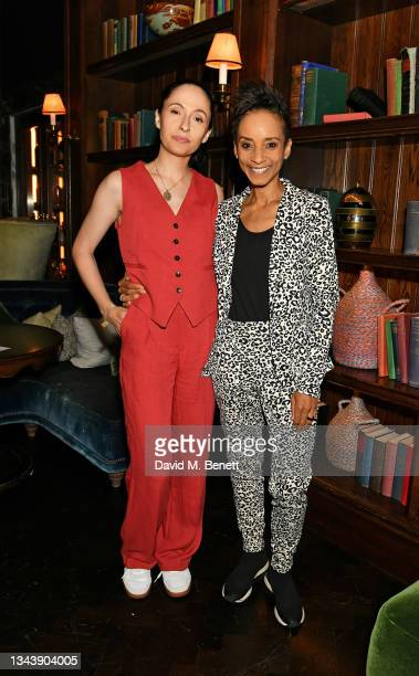Kate Holderness and Adele Roberts attend the Rolling Stone UK launch at Rosewood London on September 29, 2021 in London, England.