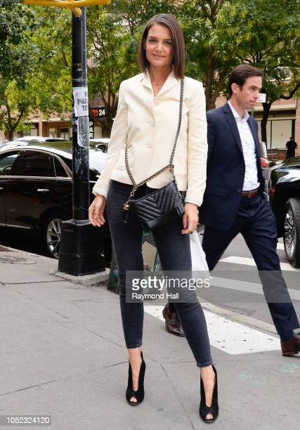 Kate Holmes is seen on October 16 2018 in New York City