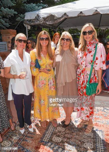 Kate Holstein, Melony Lewis, Ashley Ramos, and Jamie Tisch attend the Cultured X Valentino Summer Celebration for the Young Collectors List on July...