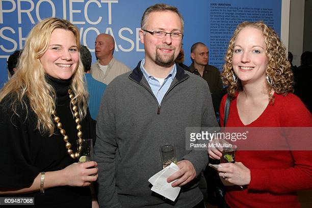 Kate Howard Jeremy Day and Carrie Wood attend SKYY90 Diamond Design Series Visual Echo at Center For Architecture on January 12 2007 in New York City