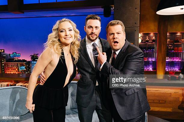 Kate Hudson and Aaron TaylorJohnson with James Corden during 'The Late Late Show with James Corden' Tuesday January 17 2017 On The CBS Television...