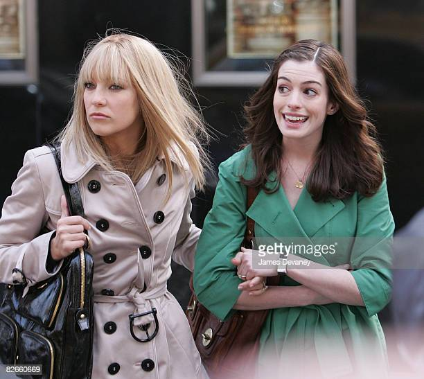 Anne Hathaway Bride Wars: 60 Top Kate Hudson And Anne Hathaway On Location For Bride