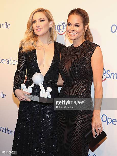 Kate Hudson and Brooke BurkeCharvet attend 2016 Operation Smile Gala at Cipriani 42nd Street on May 12 2016 in New York City