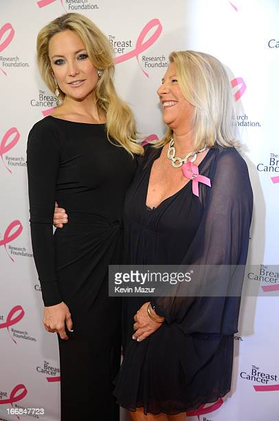 Kate Hudson and CEO of Ann Taylor Kay Krill attend the Breast Cancer Foundation's Hot Pink Party at the Waldorf Astoria Hotel on April 17 2013 in New...