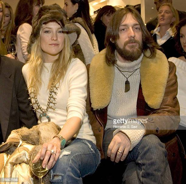 Kate Hudson and Chris Robinson at the The New Ralph Lauren store in Aspen in Aspen Colorado