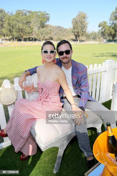 Kate Hudson and Danny Fujikawa at the Eighth Annual Veuve Clicquot Polo Classic on October 14, 2017 in Los Angeles, California.