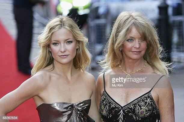 Kate Hudson and Goldie Hawn arrive at the UK Premiere of 'Skeleton Key' at Vue West End on July 20 2005 in London England
