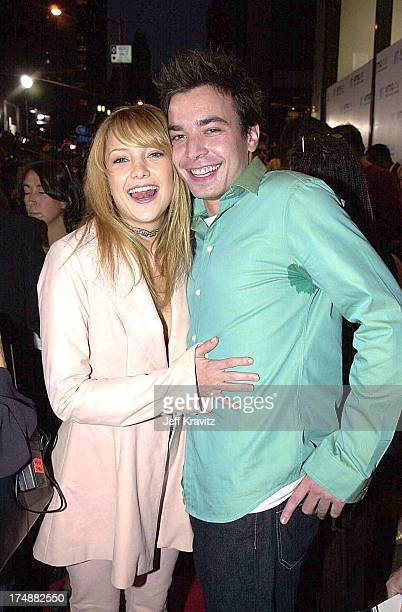 Kate Hudson and Jimmy Fallon during 2000 MTV Video Music Awards at Radio City Music Hall in New York City New York United States