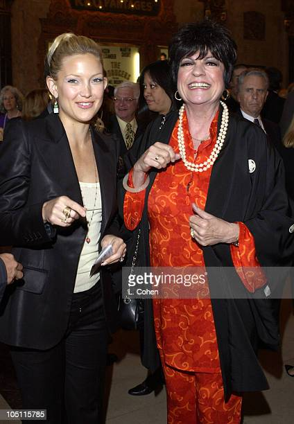Kate Hudson and Jo Anne Worley during Opening Night of The Producers Red Carpet at Pantages Theatre in Hollywood California United States