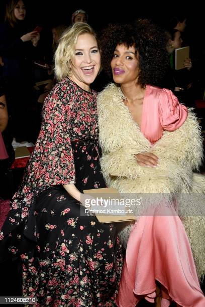 Kate Hudson and Kerry Washington attend the Michael Kors Collection Fall 2019 Runway Show at Cipriani Wall Street on February 13 2019 in New York City