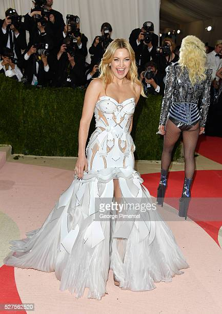 Kate Hudson and Lady Gaga attend the 'Manus x Machina: Fashion in an Age of Technology' Costume Institute Gala at the Metropolitan Museum of Art on...