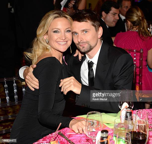 Kate Hudson and Matt Bellamy attend the Breast Cancer Foundation's Hot Pink Party at the Waldorf Astoria Hotel on April 17 2013 in New York City