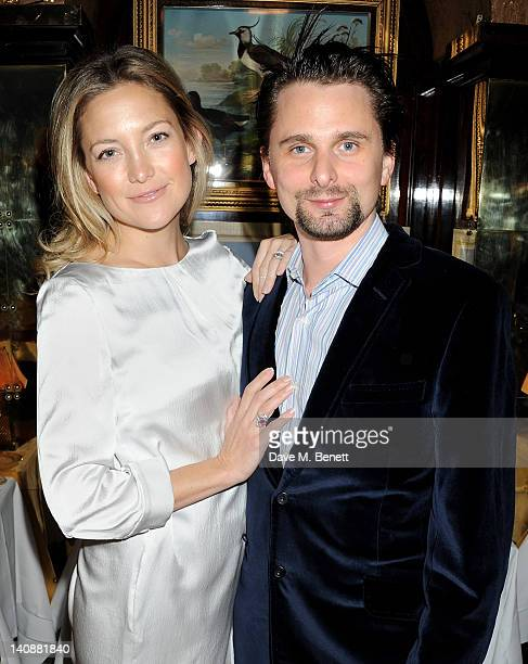 Kate Hudson and Matt Bellamy attend the Hawn Foundation UK launch event hosted by Goldie Hawn at Annabels on March 7 2012 in London England