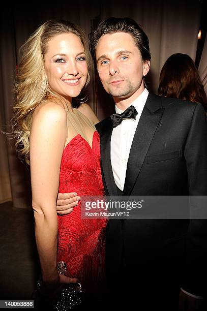 Kate Hudson and Matthew Bellamy attend the 2012 Vanity Fair Oscar Party Hosted By Graydon Carter at Sunset Tower on February 26, 2012 in West...