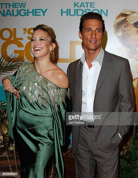 Kate Hudson and Matthew McConaughey attend the Fool's Gold film premiere held at the Vue West End in Leicester Square on April 10 2008 in London...
