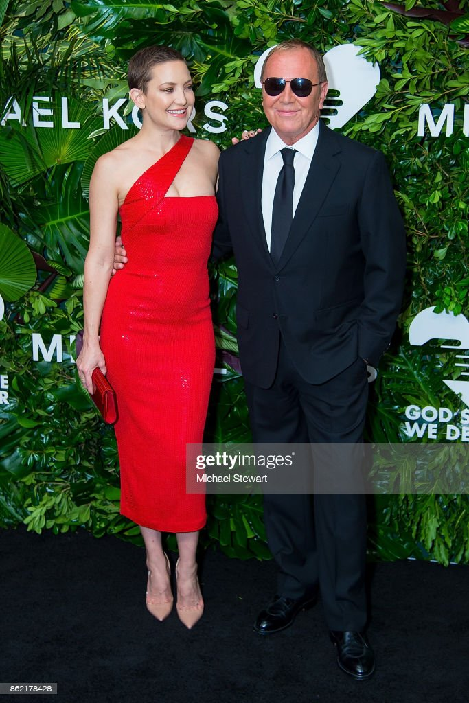 Kate Hudson (L) and Michael Kors attend the 11th Annual God's Love We Deliver Golden Heart Awards at Spring Studios on October 16, 2017 in New York City.