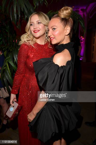 Kate Hudson and Sia with FIJI Water at the 5th Annual Fashion Los Angeles Awards on March 17 2019 in Los Angeles California
