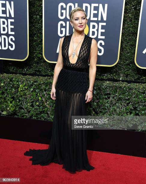 Kate Hudson arrives at the 75th Annual Golden Globe Awards at The Beverly Hilton Hotel on January 7 2018 in Beverly Hills California