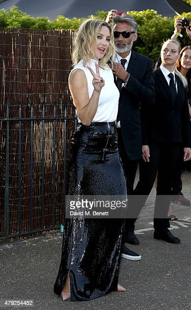 Kate Hudson arrives at The Serpentine Gallery summer party at The Serpentine Gallery on July 2 2015 in London England