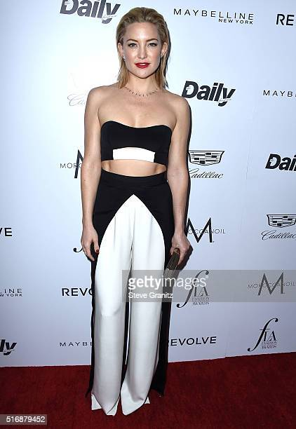 Kate Hudson arrives at the The Daily Front Row 'Fashion Los Angeles Awards' 2016 at Sunset Tower Hotel on March 20 2016 in West Hollywood California