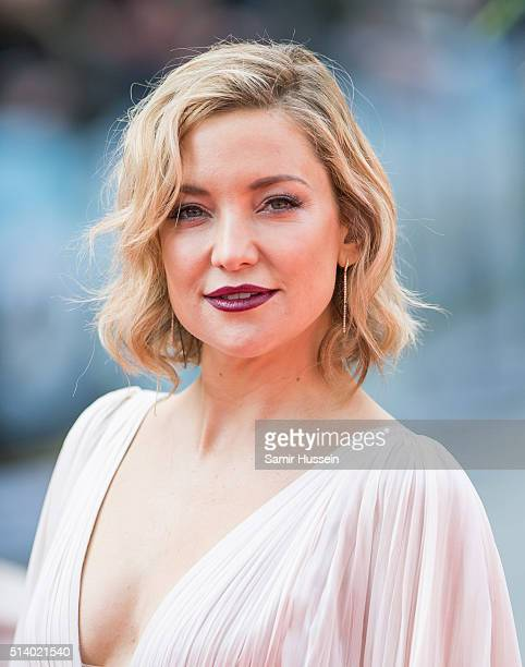 Kate Hudson arrives for the european premiere of 'Kung Fu Panda 3' at Odeon Leicester Square on March 6 2016 in London England