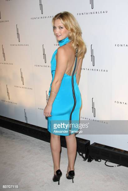 Kate Hudson arrives for the grand opening of Fontainebleau Miami Beach on November 14 2008 in Miami Beach Florida