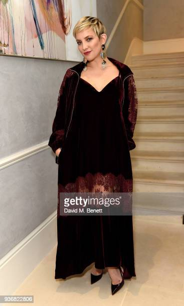 Kate Hudson attends a dinner at a private residence in celebration of Kate Hudson and Fabletics on March 22 2018 in London England