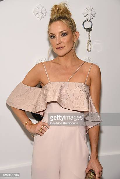 Kate Hudson attends Chrome Hearts Celebrates The Miami Project During Art Basel With Zoe Kravitz at Miami Design District on December 3 2014 in Miami...