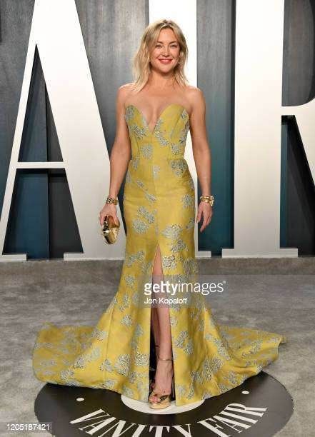 Kate Hudson attends the 2020 Vanity Fair Oscar Party hosted by Radhika Jones at Wallis Annenberg Center for the Performing Arts on February 09 2020...
