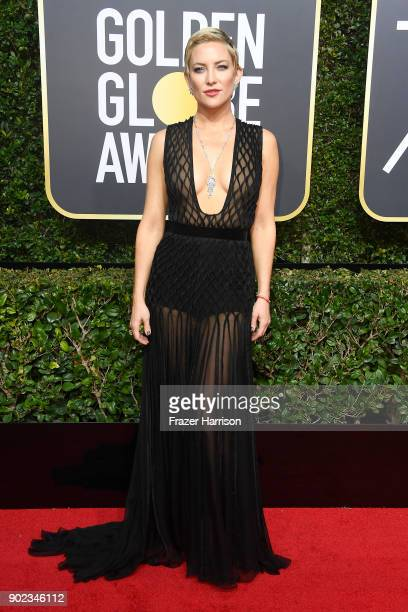 Kate Hudson attends The 75th Annual Golden Globe Awards at The Beverly Hilton Hotel on January 7 2018 in Beverly Hills California