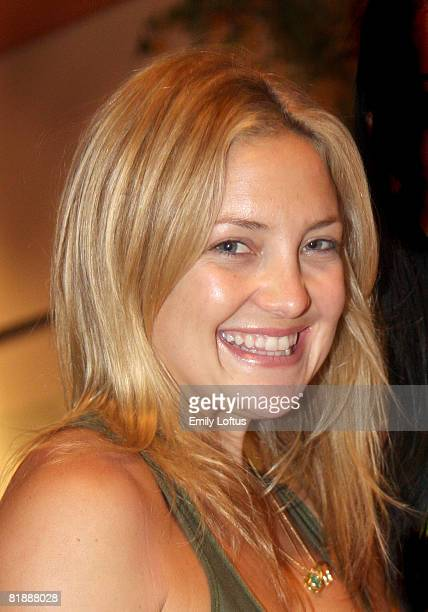 Kate Hudson attends the Backstage Creations 2008 American Century Championship Golf Tournament on July 9 2008 in Lake Tahoe California