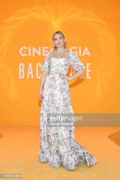 Kate Hudson attends the Bvlgari Hight Jewelry Exhibition on June 13, 2019 in Capri, Italy.