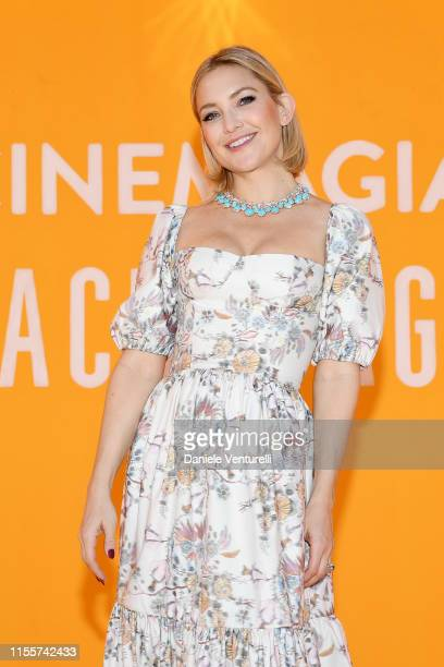 Kate Hudson attends the Bvlgari Hight Jewelry Exhibition on June 13 2019 in Capri Italy