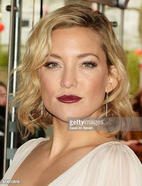 Kate Hudson attends the European Premiere of 'Kung Fu Panda 3' at Odeon Leicester Square on March 6 2016 in London England