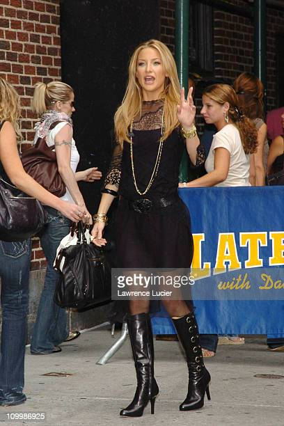 Kate Hudson during Kate Hudson Visits The Late Show with David Letterman - August 8, 2005 at Ed Sullivan Theater in New York City, New York, United...